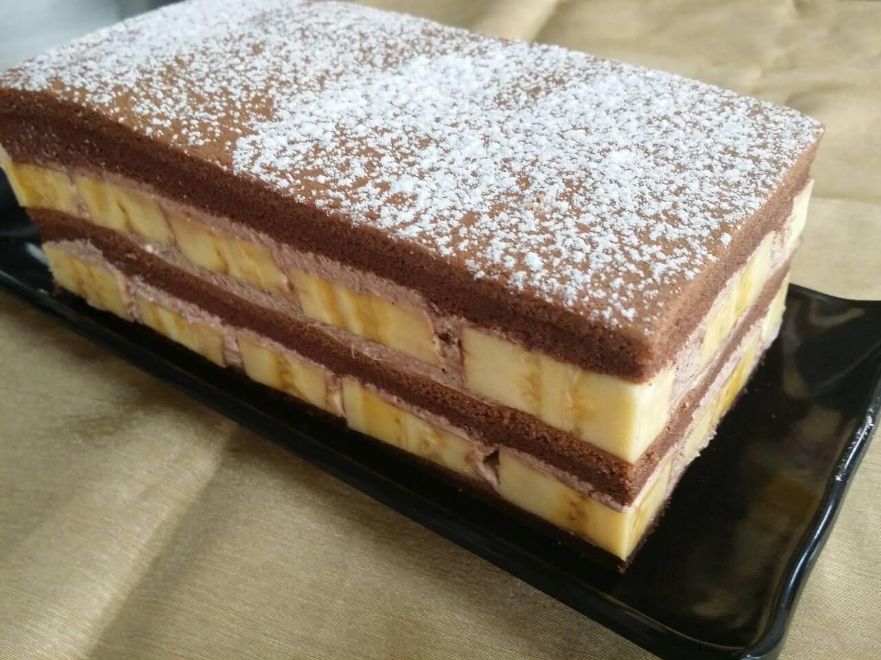 香蕉巧克力爆多蛋糕(長條)  (自取需事先預訂)