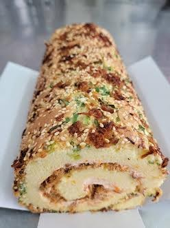 波波魚卵鹹蛋糕
