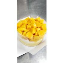 新鮮雙層7吋愛文芒果爆多蛋糕(圓型)