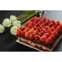 新巧屋巧克力草莓爆多蛋糕(12月~4月)(方型)  (大湖草莓季開賣)