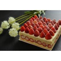 新巧屋草莓爆多蛋糕(12月~4月)(方型)  (大湖草莓季開賣)